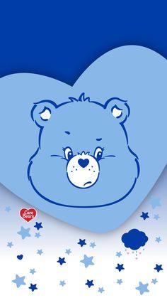 Grumpy Bear Pretty Phone Backgrounds, Cute Wallpaper Backgrounds, Wallpaper Iphone Cute, Cute Cartoon Wallpapers, Colorful Wallpaper, Bear Wallpaper, Kawaii Wallpaper, Cartoon Drawings, Cartoon Art