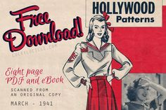 Free vintage patterns from Lucky Lucille