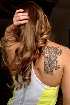 elephant tattoo for women - 70 Lovely Tattoos for Girls  <3 <3