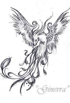 Image result for watercolor tattoo phoenix