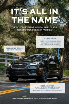 The Most Innovative Minivan In it's Class* The new 2021 Chrysler Pacifica