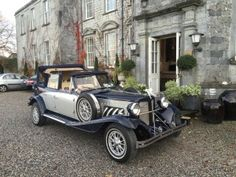 Navy & Silver Beauford Wedding Car  #travel #transportation #destination #weddingcar #Dublin #limousine #limoservice #Ireland #Meath #Kildare #Wicklow #Louth #Cavan #Monaghan #Offaly #occasions #event #partybus