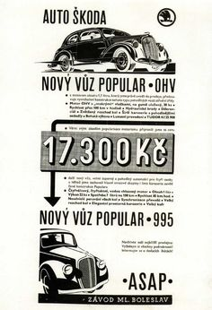 Auto Skoda, Automobile Industry, Cars And Motorcycles, Vintage Posters, Personalized Items, Cards, Poster Vintage, Maps, Playing Cards