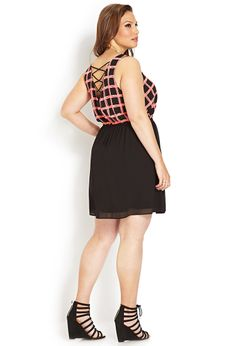 Geo Girl Strappy Dress | FOREVER21 PLUS Who is already planning their weekend outfit? #Plus #OOTD #DressedUp