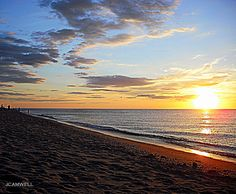 a summer sunset on a cape cod beach