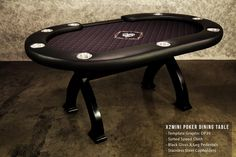 X2 Mini Poker Dining Table. Go from dinner to a poker game in seconds.  Seats 8 and great for smaller spaces.