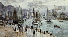 Claude Monet Fishing Boats Leaving The Port Of Le Havre oil painting reproductions for sale