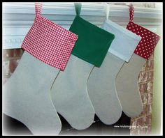 Linen Christmas stockings