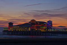 Grand Pier, Weston-super-Mare Weston Super Mare, Still Standing, Landscape Photos, Past, Fair Grounds, Fire, Explore, Mansions, House Styles