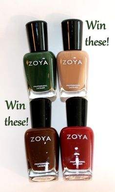 Set in Lacquer: Zoya Giveaway! You could win four of the shades from the Cashmeres Collection
