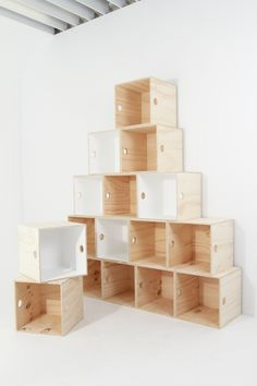 Like Butter plywood boxes $44 - Painted white interior (optional).