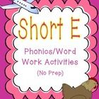 This unit contains a variety of activities to help your students grasp the short e sound. It is ideal for beginning readers working on short vowel ...