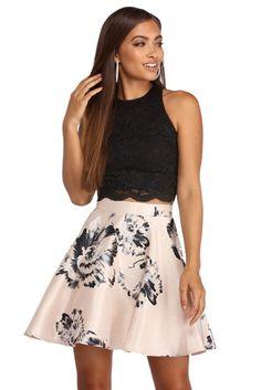 d6ac881065 Katya Printed Floral Two Piece Dress