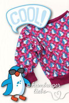 "Pink penguin shirt (fabric ""Pingu Parade"")"
