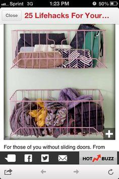 Closet storage idea
