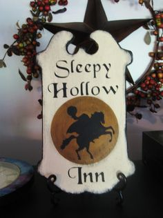 Halloween Sign SLEEPY HOLLOW INN Headless Horseman