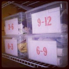 organizing baby clothes   Organizing baby clothes by size. Since we are ...   Office/baby room