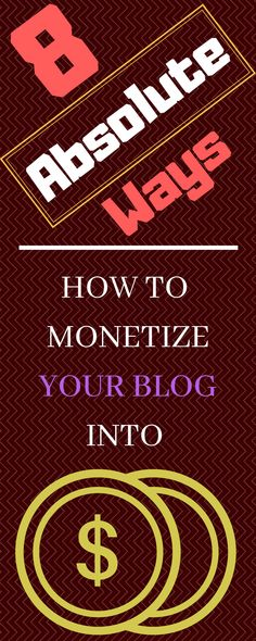 No ones know blogging is a solid way to make money online. But how? Yeah we looked over how to monetize your blog into cold cash in 8 ultimate ways in which you can make money blogging! No let it keep as only your hobby, it's on a nice hobby basis but earn money while you're at home. Check it out!