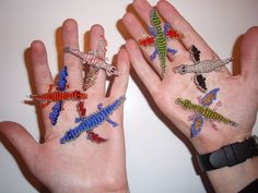 Instructions to make beaded dragons and lizards..too cute …