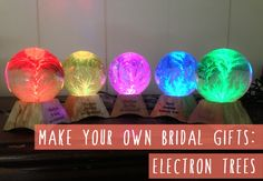 How to make your own bridal party gifts - electron trees!