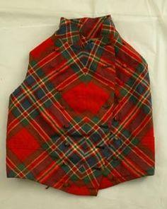 Dress McFarlane tartan wool waistcoat.  Early 19th century.  David Sime creator, Edinburgh