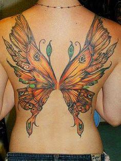 Full Back Tattoos for Women | Art-Sci: Beautiful Butterfly Tattoo Designs