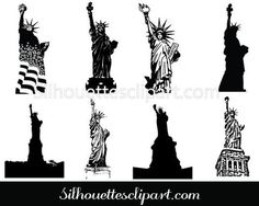 Statue of Liberty Silhouette vector elements are the perfect Statue of Liberty clip art, You can use for any Education, social service related projects and vector illustrations. Building Silhouette, Silhouette Clip Art, Circuit Crafts, Famous Landmarks, Photo Projects, Photo Craft, Vector Design, Fourth Of July, Statue Of Liberty