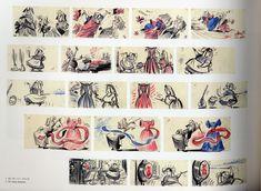 "Sleeping Beauty, ""Make it Pink! Make it Blue!"" sequence story board"