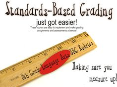 Comprehensive Standards Based Grading Rubric for 8th Grade Language Arts Based on the Common Core Standards