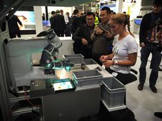 showing off its moves at the Hannover Messe 2015 Abb Robotics, Gym Equipment, Electronics, Sports, Hannover, Hs Sports, Excercise, Workout Equipment, Sport