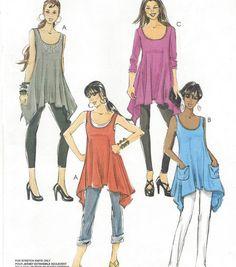 Womens Summer Tunics Handkerchief Hems OOP McCalls by CloesCloset