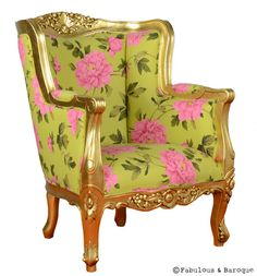 Aveline French Wing Back Chair