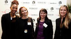 De gauche à droite :   Virginie Lentulus, Vice-Présidente des Enovatrices, Anne Guivarc'h, Directrice Associée de BETC Digital et Agnès Vissous, Digital Experience & Performance Director, et Sandra Merlière, Présidente des Enovatrices