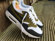 Nike Air Max 1 Ultra Essential Size 11Uk 'Olive Flak' Men's Sneakers 819476 107 | eBay