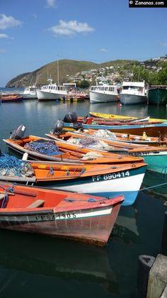 Le port de pêche de Case Pilote - Martinique.