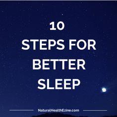 10 Steps for Better Sleep