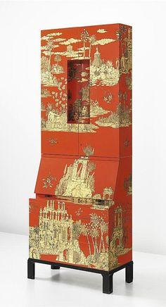 PIERO FORNASETTI  Rare 'Gran Coromandel' illuminated trumeau, 1956–1965