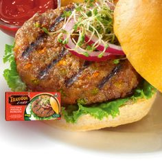 Vegetable Masala Burgers - All natural patties made of fresh vegetables and choice spices. #Vegan #Vegetarian #Burger