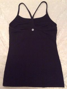 8fd35462e487c Lululemon Power Y Tank 4 Womens Black Fitness Yoga Bra Top Running