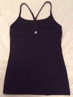 Lululemon Power Y Tank 4 Womens Black Fitness Yoga Bra Top Running #Lululemon #SportsBrasBraTops