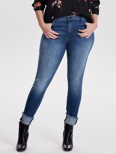 ONLY CARMAKOMA Curvy Carmen Ankle Fold Raw Regular fit Jeans für 49,99€. Jeans von ONLY CARMAKOMA, Regular Fit, Knöchellang bei OTTO