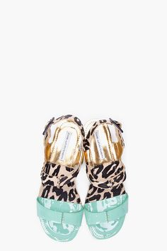 MINT AND LEOPARD JANEE SANDALS
