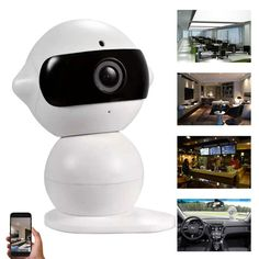 74.99$  Watch here - http://aliyc0.worldwells.pw/go.php?t=32686886458 - Wireless P2P Multi-use Car Recorder Robot Mini DVR Smart Home Security HD WIFI IP Camera White 1280*960 1.3MP Support 64Gb TF 74.99$