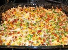 Yum... I'd Pinch That! | Loaded baked potato chicken casserole #recipe #justapinch