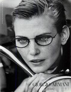 Nadja Auermann for Giorgio Armani 1996