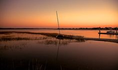 Sunrise, Wilmington, boats, boating, reflection, nature, seascape, landscape, marshy, marsh, grass, grassy, dock