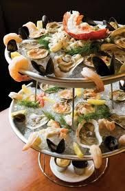 Fruits de mer (literally: fruits from the sea) platter of chilled seafood