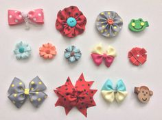 Below value pack options are available for babies/kids/girls  Value pack #1 - 1.5 Light Peach flower - 2 felt frogs clip - 2.3 felt monkey clip - 2.5 turquoise blue with yellow double bow - 3.5 red flower with button on it  Value pack #2 - 2 Red double flower with High quality ribbon with pearl - 1.5 light blue flower - 2 felt frog clip - 3 grey flower with yellow Polka dots on it - 3 pretty pink polka bow  Value pack #3 - 2.5 pink with yellow double bow - 1.5 Light blue with brown ...