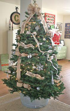 A Diamond in the Stuff: My {Burlap & Bows} Christmas Tree