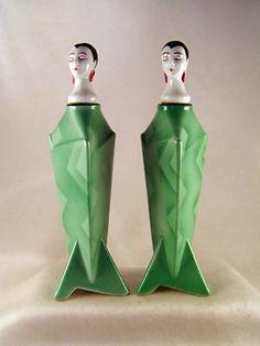Deco perfume bottles by Christopher Dresser